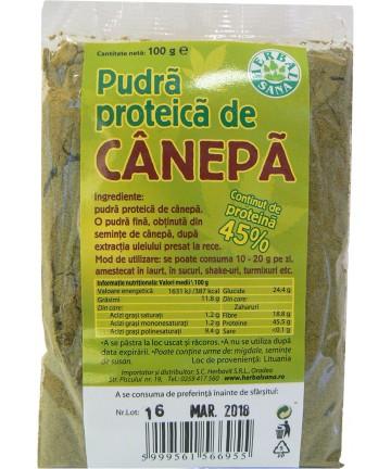 Pudra proteica de Canepa